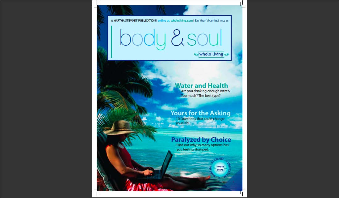 Redesign of the Body & Soul Magazine