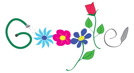 Google Logo for Plant a Flower Day